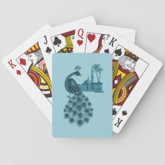 Cartes À Jouer Paon bleu romantique