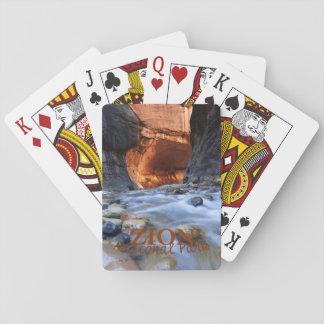 Cartes À Jouer Parc national de Zion, les étroits, cartes de jeu