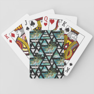 Cartes À Jouer Paumes géométriques abstraites et motif de vagues