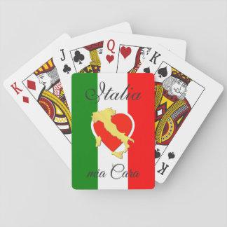 Cartes À Jouer Pays italien d'or d'initiales de drapeau de