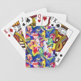 Cartes À Jouer Perroquets d'aquarelle