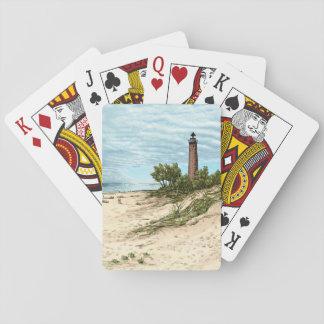 Cartes À Jouer Peu de phare Michigan de sable de point