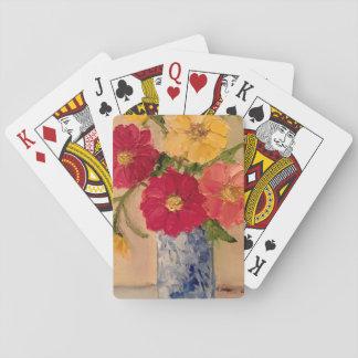 Cartes À Jouer Plate-forme florale des cartes de jeu