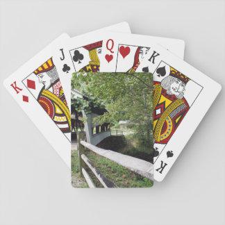 Cartes À Jouer Pont couvert avec les cartes de jeu en bois de