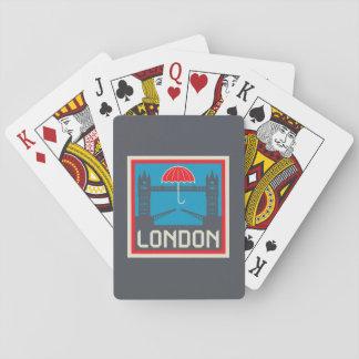 Cartes À Jouer Pont de Londres avec le parapluie