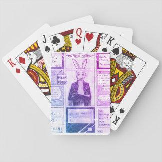 Cartes À Jouer Portez malheur à les cartes de jeu de lapin