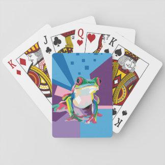 Cartes À Jouer Portrait coloré de grenouille d'arbre