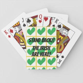 Cartes À Jouer Reculez ! Les Irlandais sont ici ! ! Cartes de jeu