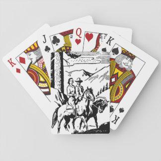 Cartes À Jouer Rétro équitation