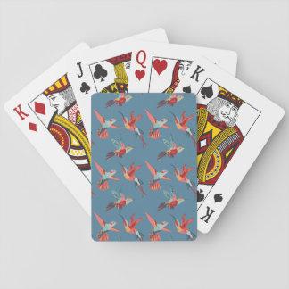 Cartes À Jouer Rétro motif de colibri