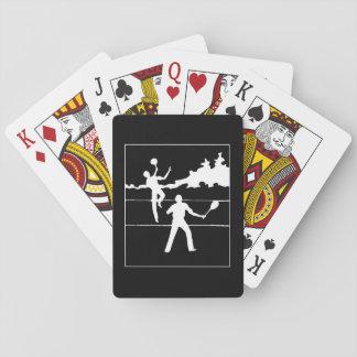 Cartes À Jouer Rétro silhouette de tennis