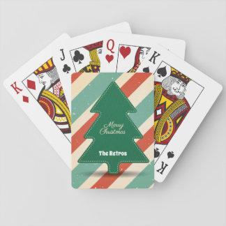 Cartes À Jouer Rétro, vintage arbre de Noël de regard/cartes de