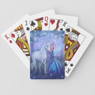 Cartes À Jouer Rhiannon - licorne et cartes de jeu féeriques