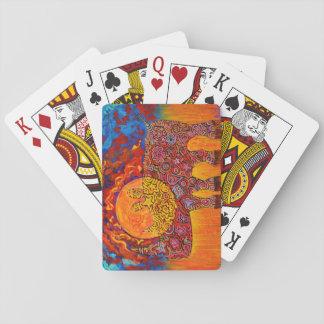 Cartes À Jouer Rhyno magique et coucher du soleil