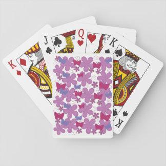 Cartes À Jouer Rose des papillons   de ressort