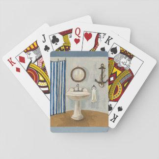 Cartes À Jouer Salle de bains orientée nautique