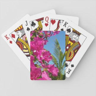 Cartes À Jouer Scène tropicale de nature de bouganvillée et de