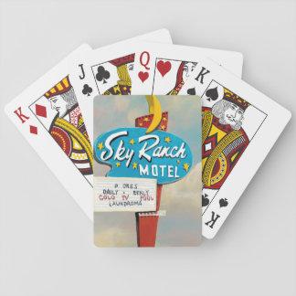 Cartes À Jouer Signe de motel de ranch de ciel