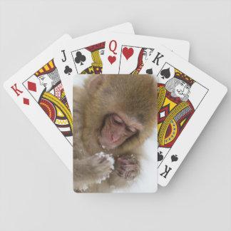 Cartes À Jouer Singe japonais de neige du Macaque | de bébé