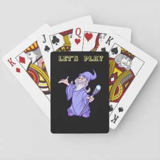 Cartes À Jouer Sorcière pourpre magique de magicien de magicien