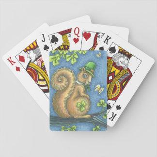 Cartes À Jouer Tisonnier IRLANDAIS de CARTES de JEU de l'ÉCUREUIL