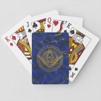 Cartes À Jouer Tout l'oeil mystique voyant dans la boussole