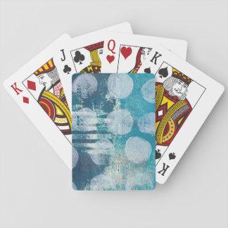 Cartes À Jouer Turquoise abstraite de Monoprint 170255 cartes de