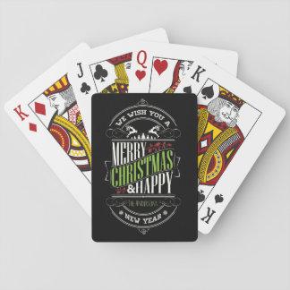 Cartes À Jouer Typographie de Noël/Joyeux Noël/vacances heureuses