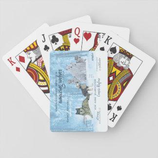 Cartes À Jouer Typographie extraordinaire | de loups personnalisé