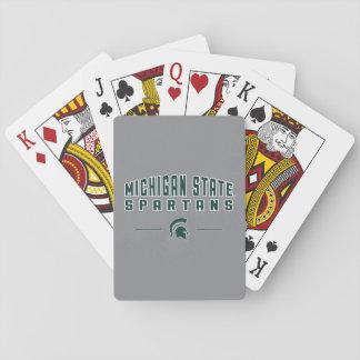 Cartes À Jouer Université de l'Etat d'État du Michigan du fanion