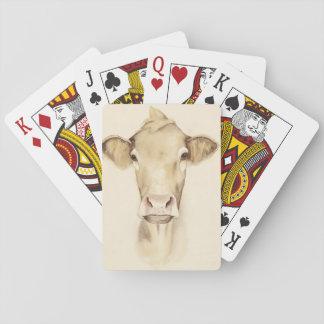 Cartes À Jouer Vache aux animaux | de grange d'aquarelle