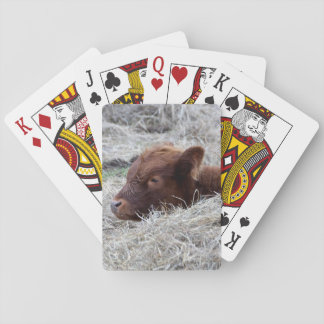 Cartes À Jouer Veau mignon de bébé, cartes de jeu animales de