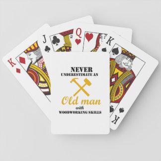 Cartes À Jouer Vieil homme avec le cadeau de Fu de travailleur du