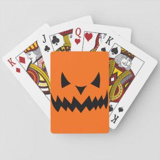 Cartes À Jouer Visage mauvais Sihouet de citrouille de Halloween