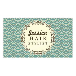Cartes à la mode de rendez-vous de coiffeur de mot cartes de visite personnelles