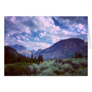 Cartes À l'est de Yosemite