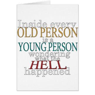 Cartes À l'intérieur de chaque personne âgée