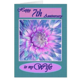 Cartes À mon épouse - 7ème anniversaire heureux