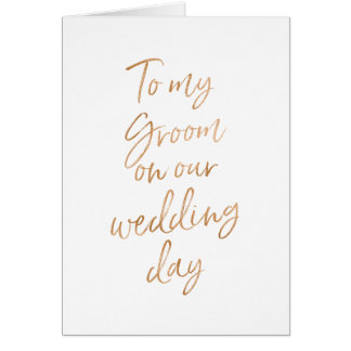 Cartes À mon marié sur notre mariage | l'or élégant s'est
