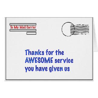 Cartes à mon transporteur de courrier