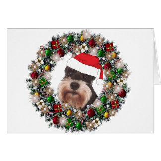 Cartes À Noël - Schnauzer miniature