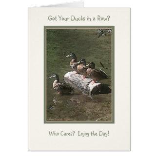 Cartes A obtenu vos canards dans une rangée ?
