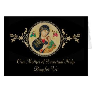 Cartes A personnalisé notre mère d'aide perpétuelle