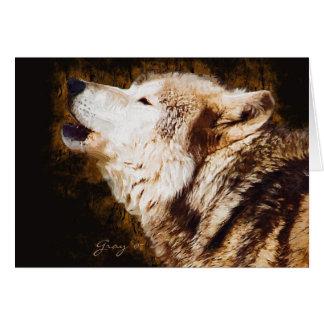 Cartes Aboyer de loup gris