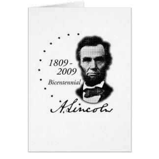 Cartes Abraham Lincoln (Abe) bicentenaire