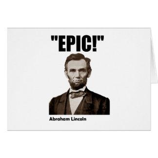 Cartes Abraham Lincoln épique