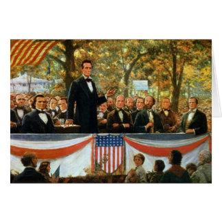 Cartes Abraham Lincoln et Stephen A. Douglas