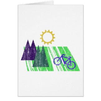 Cartes Abrégé sur faisant du vélo montagne