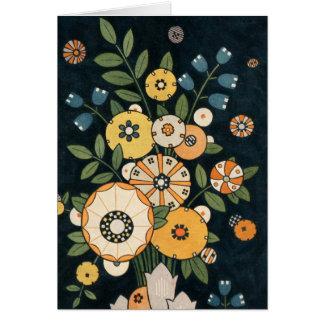 Cartes Abrégé sur géométrique vintage fleur de cercle