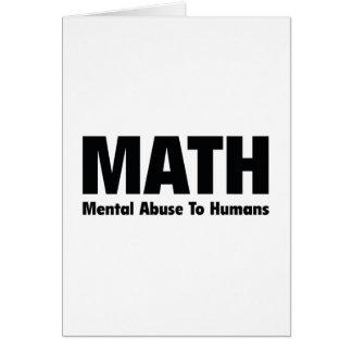 Cartes Abus mental de MATHS aux humains